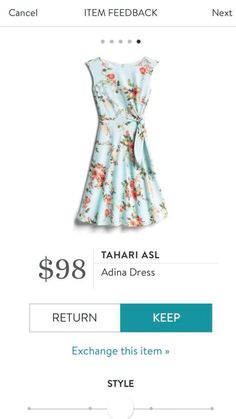 I have this dress in a different pattern & color. I found it runs small, so I sized up. It is so cute and so flattering! Stitch Fix Dress, Stitch Fix Outfits, Stitch Fit, Stitch Fix Stylist, Playing Dress Up, Dress Me Up, Nice Dresses, What To Wear, Style Me