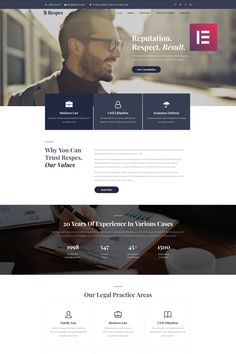 Respes Lawyer WordPress Theme - Agency Website Design - Help you design professional website - Respes Lawyer WordPress Theme Web Design Websites, Web Design Awards, Web Design Quotes, Wordpress Website Design, Web Design Tutorials, Website Layout, Web Layout, Website Ideas, Website Design Inspiration