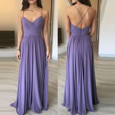Lavender Sweetheart Chiffon Long Bridesmaid Dress With Ruched Bodice