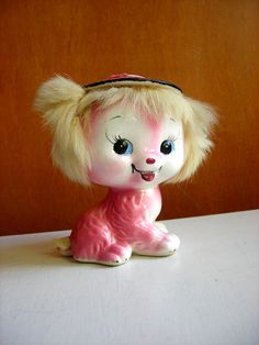 Vintage Creepy Cute Ceramic Dog : Uber Kitsch