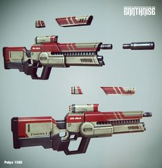Weapons and Props by Georgi Petrov, via Behance