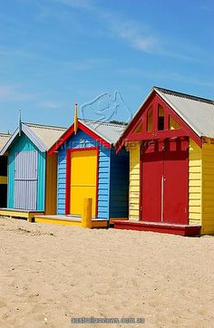 Beach houses, Melbourne, Victoria