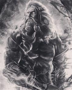 tattoo zeus preto e cinza ; Zeus Tattoo, Poseidon Tattoo, Hades Tattoo, Greek Mythology Tattoos, Greek Mythology Art, Warrior Tattoos, Viking Tattoos, Tattoo Sleeve Designs, Sleeve Tattoos