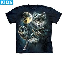 Wolf T-Shirt | Moon Wolves Collage Kids