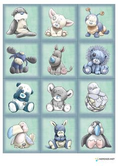 Cute quilt or wall hanging My Blue Nose Friends Tatty Teddy, Teddy Bear, Quilt Baby, Cute Drawings, Animal Drawings, Baby Animals, Cute Animals, Blue Nose Friends, Baby Girl Cards