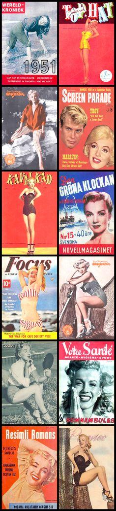 1951 magazine covers of Marilyn Monroe .... #marilynmonroe #normajeane #vintagemagazine #pinup #iconic #raremagazine #magazinecover #hollywoodactress #1950s