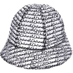 db4a91ad Pre-owned Chanel Vinyl CC Bucket Hat (£220) ❤ liked on Polyvore featuring  accessories, hats, black, print bucket hat, bucket hats, print hats, chanel  hat ...