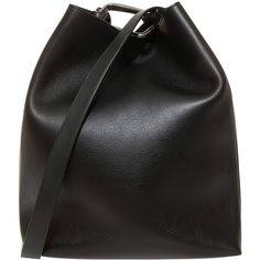 3.1 PHILLIP LIM Mini Quill Bucket Bag (46,410 DOP) ❤ liked on Polyvore featuring bags, handbags, shoulder bags, accessories, purses, bolsos, black handbags, black purse, leather shoulder handbags and leather purse