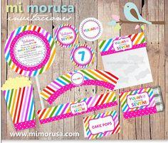 Printable Kit Colorfull Lollipop! / ¡Kit imprimible Colores Lollipop!