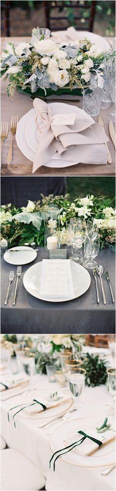 Top 15 So Elegant Wedding Table Setting Ideas for 2018 - Page 3 of 3 - Oh Best Day Ever Elegant Wedding, Wedding Reception, Dream Wedding, Once Wed, Wedding Inspiration, Wedding Ideas, Wedding Decorations, Table Decorations, Wedding Table Settings
