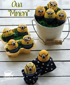 Minioni, oua, retete, retete pentru copii, retete pentru Paste, easter eggs minions