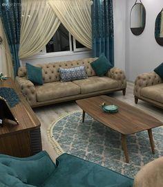 A harmonious and stylish home in which blue accents add a feeling of calm and serenity. Mavi vurguların ferah ve dingin bir his kattığı, uyumlu ve şık bir ev. Living Room Designs, Living Room Decor, Bedroom Decor, Blue Accents, Minimalist Living, Small Living, Furniture Design, Home Decor, Sofa