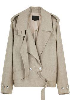Alexander Wang Linen Burlap Jacket