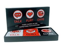 Fun and Romantic Game for Couples: Date Night Box Set with Conversation Starters, Flirty Games and Cool Dares - Choose from Talk, Flirt or Dare Cards for 3 Games in 1 - Includes 150 Gaming Cards Free Word Games, Fun Games, Games To Play, Apps For Couples, Love Quiz, Words With Friends, Threes Game, Couple Games, Perfect Couple