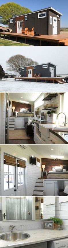 My Shed Plans - This 35 gooseneck tiny house was built by Brian Skyler Thomas -- both of whom hold Building Construction degrees and work in the construction industry. - Now You Can Build ANY Shed In A Weekend Even If You've Zero Woodworking Experience! Tiny House Cabin, Tiny House Living, Tiny House Plans, Tiny House On Wheels, Tiny House Design, Tiny House Movement, Building A Shed, Tiny Spaces, Little Houses