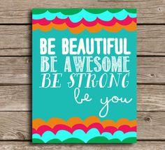 Inspiring Word Art Print Be You