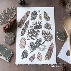 原创手工博文: 橡皮章也可以如此美丽 -艺术家Olga Ezova-Denisova作品- 手工客,手工分享生活社区