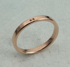Copper Ring  Smooth Like Butter Style Posey by KathrynRiechert, 26 usd