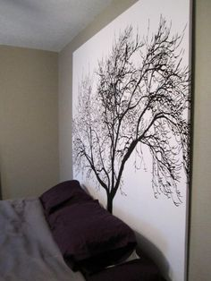 diy idea for bedrooms-----Large oversized Canvas for a headboard