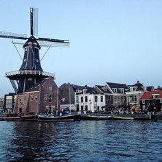 Zwoele zomeravond in Haarlem  #summer #haarlemcityblog #haarlem #molendeadriaan #zuidam #spaarne #zomeravond