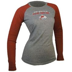 Colorado Avalanche Touch by Alyssa Milano NHL Womens Long Sleeve Raglan T-Shirt (Gray)