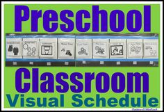 Graphic pictures for Visual Schedule, Preschool Plan in graphics. Visual schedules can be very important for some children. Helps relieve anxiety and helps children understand what will be happening!
