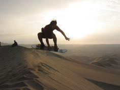Sandboard , dunas del Ica , Peru