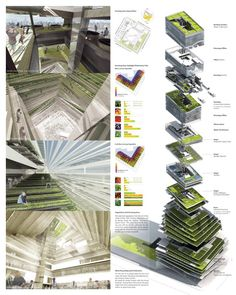 Vertical farming, also known as urban agriculture, gives hope for feeding our ever-growing population. Get ideas for starting your vertical farm. Architecture Durable, Architecture Design, Architecture Presentation Board, Architecture Board, Green Architecture, Futuristic Architecture, Sustainable Architecture, Sustainable Design, Landscape Architecture