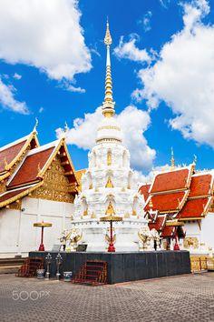 Wat Klang Wiang Temple in Chiang Rai, Thailand