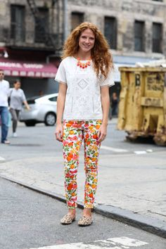 Street style: Keeping mixed prints bright and playful