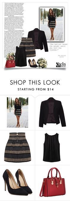 """SheIn 2/II"" by nermina-okanovic ❤ liked on Polyvore featuring Theory, WithChic and shein"