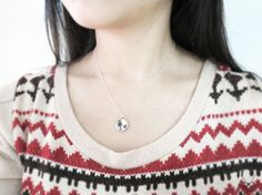 15% off Snowflakes Sterling silver necklace by plOrkTaiwAn