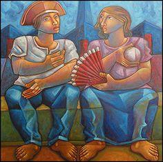 Land of Fire by Adélio Sarro Sobrinho ( Andradina , September 7, 1950 ) is a Brazilian painter , draftsman , sculptor and muralist .