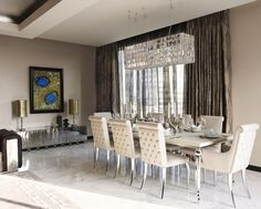 Mayfair Penthouse Dining Room. Design by Oliver Burns.
