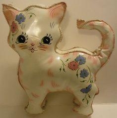 VINYL PLUSH / STUFFED KITTEN CAT