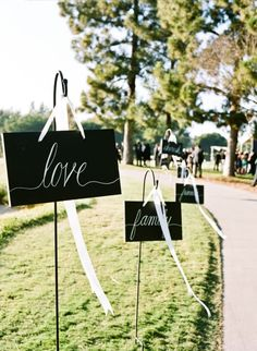 Tie Wedding Ideas that Dazzle Black and white wedding signs for a formal wedding affair. Photo via Style Me PrettyBlack and white wedding signs for a formal wedding affair. Photo via Style Me Pretty Black Tie Wedding, Mod Wedding, Wedding Tips, Wedding Planning, Wedding Day, Wedding Church, Trendy Wedding, Wedding Photos, Elegant Wedding
