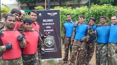 On 24th August 2016: Paintball Game Event for 200 employees of Godrej at The Corinthians Resort & Club in Pune.