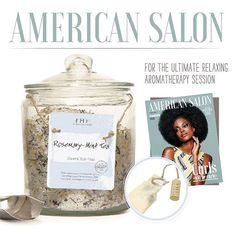 """@american_salon's June issue features our ever-so-comforting Rosemary-Mint Tea Bath Soak! Described as the """"ultimate relaxing aromatherapy session,"""" Rosemary-Mint is bound to bring a little R & R to your summertime! #bathsoak #relax #soothe #fhf #summertime #americansalon"""
