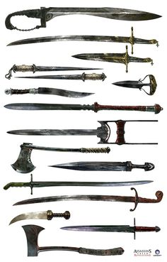 Assassin's Creed Revelations Weapons Concept Art - In the final installment of Ezio's life, Revelations showed players a new part of the world, which brought along new weapons, which appeared more middle eastern and deadly. Once again, Ubisoft did a good job at making their weapons authentic to the the time period while maintaining the level of fun a player can have.