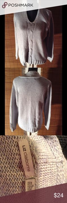 Light blue Liz Claiborne sweater top. This Sweater has Classic Liz Claiborne styling in a great light blue color! Liz Claiborne Sweaters Crew & Scoop Necks