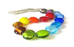 Necklace with colour Venetian glass, for her, original necklace, colorful, rainbow, unique, perfect, spring, Mother's Day gift, OOAK - pinned by pin4etsy.com