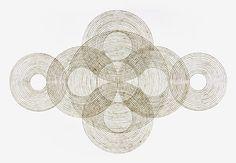 """Ripple Out"" by Katrine-Hildebrandt-Husseyl. Burnt lines on paper."