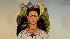 "A magical video rendition of Frida's self-portrait, ""Autorretrato con Collar de Espinas"" by Florent Porta."