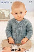 Free Knitting Pattern - Baby Knits: V Neck Baby Sweater