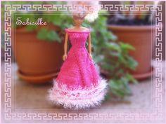 Puppenkleidung - Abendkleid mit weitem Rock ** für Barbie ** pink - ein…