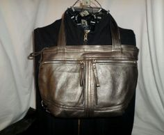 MIMS shoulder bag tote backpack metallic leather Day Pack XS
