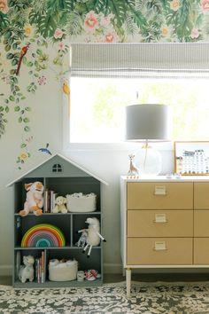 Feminine Modern Nursery with Tempaper Designs - Anne Sage Budget Nursery, Sophisticated Nursery, Extra Wide Dresser, Chinoiserie Wallpaper, Baby On The Way, Nursery Inspiration, Father Of The Bride, Nursery Design, Girl Nursery