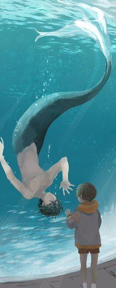 Free! - Iwatobi Swim Club, haruka nanase, haru nanase, haru, nanase, haruka, free!, iwatobi, makoto tachibana, makoto, tachibana, mer, merman