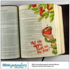 Bible Journaling Genesis Return the Apple to the Tree Bible Journaling Genesis Bringe den Apfel zum Baum zurück Source by .