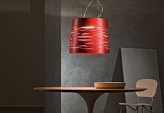 Foscarini Tress Sospensione Grande LED rot